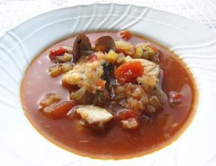 たらのトマトスープ