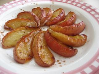 ココナッツオイルで焼りんご