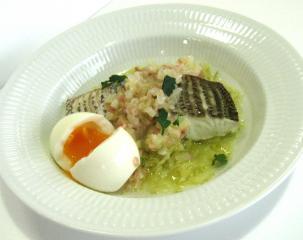 桜鯛と春キャベツのバプール(蒸し煮)