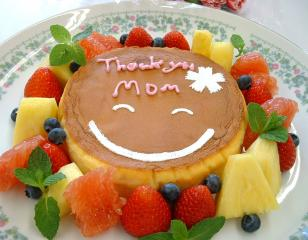 母の日デコチーズケーキ