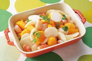 柿とかぶのサラダ(柿なます)