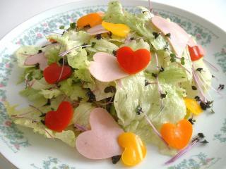 ハートいっぱいサラダ