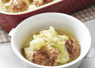 白菜と肉団子のオーブン煮込