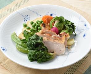 初春の野菜と鶏むね肉のエチュベ