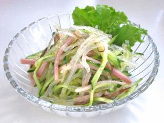糸寒天で中華サラダ