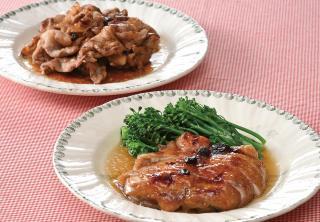 ツルヤオリジナルブルーベリージャムを使った  鶏もも肉の照り焼きと焼肉