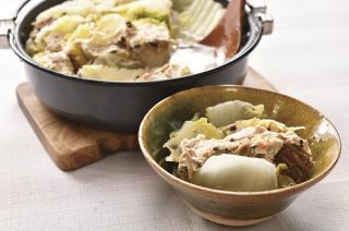つみれの具を使った 白菜ミルフィーユ鍋